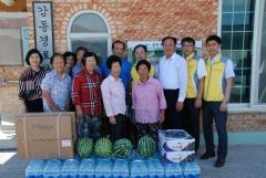 NH농협은행광주본부, '폭염극복을 위한 자매마을' 방문