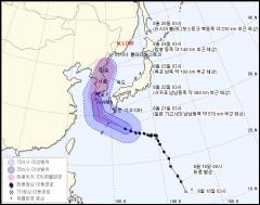 제19호 태풍 '솔릭', 제주도→한반도 관통···최대 400㎜ 폭우