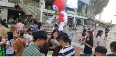장수군,전주 월드컵 경기장에서  '장수 한우랑 사과랑 축제' 홍보 진행