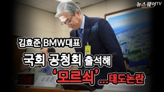 김효준 BMW대표, 불성실 답변…'태도논란'