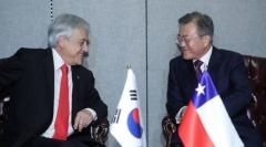 문 대통령, 칠레 대통령과 정상회담…한반도 비핵화·평화 지지 당부