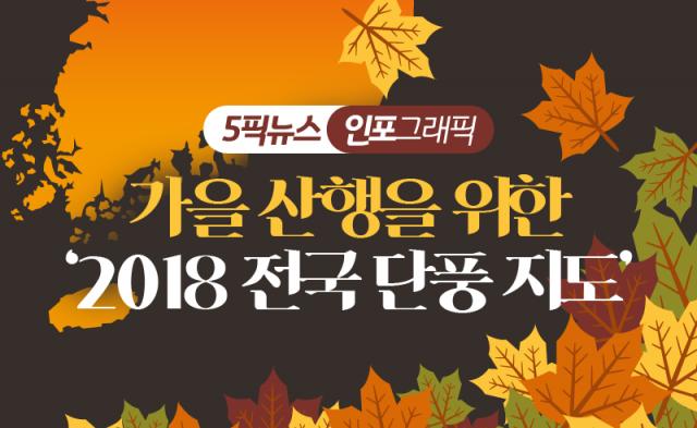 가을 산행을 위한 '2018 전국 단풍 지도'