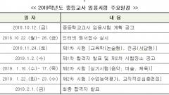 경기도교육청, 2019학년도 경기도 중등교사 1,733명 선발