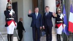 한·프랑스 정상회담 공동선언…한반도 비핵화 긴밀히 협력