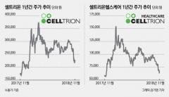 '주가 1년전으로 회귀' 셀트리온家, 뒤늦게 주가관리 나서