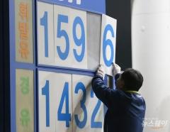 주유소 휘발유 가격 L당 20원 가까이 상승…서울 1553.3원