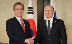 """한러정상, 한반도 상황 논의…푸틴 """"북한 비핵화 진전시 상응조치해야"""""""