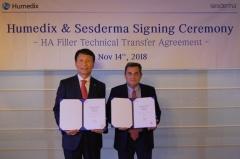 휴메딕스, 스페인 세스더마社와 250만불+기술료 계약 체결