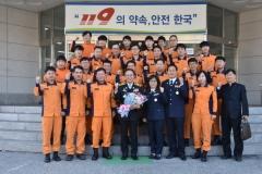김충식 강원도소방본부장, 정선소방서 방문
