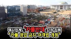 """택시업계, '카풀 반대' 2차집회 현장…""""여객법 개정해야"""""""