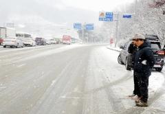 백군기 용인시장, 관내 주요 도로 제설 상황 현장 점검