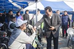 김상돈 의왕시장, 장애인 파크골프대회 참가자 격려