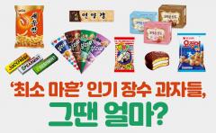 [카드뉴스]'최소 마흔' 인기 장수 과자들, 그땐 얼마?