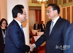 김영록 전남도지사, 리커창 국무원 총리와 면담