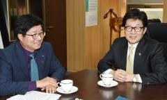 염태영 수원시장, 환경부 장관에게 미세먼지ㆍ기후변화 대응사업 지원요청
