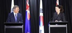 """문 대통령 """"뉴질랜드 신태평양·한국 신남방정책으로 협력 강화"""""""
