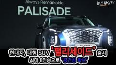 """현대차, 대형 SUV '팰리세이드' 출시…""""이동수단 넘어 삶 이루는 공간"""""""