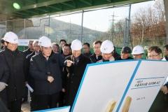 백군기 용인시장, 기흥저수지 수질개선사업 현장점검
