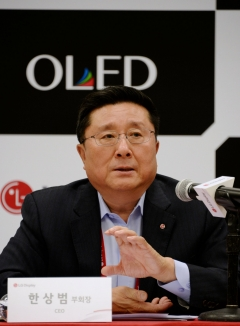 "[CES 2019]한상범 LGD 부회장 ""P-OLED 늦었지만 미래 위해 꼭 필요"""