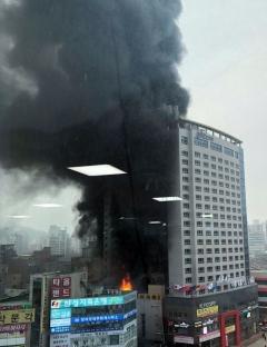 천안 쌍용동 라마다앙코르 호텔서 화재 발생