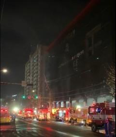 인천순복음교회서 화재...1명 연기흡입, 병원서 치료중