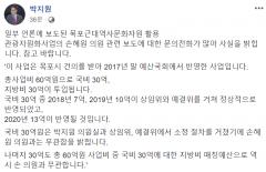 """'오락가락' 박지원, 손혜원 '쪽지예산' 의혹에 """"아니다"""""""