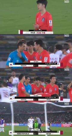 대한민국 축구 대표팀, 카타르에 패배…8강전서 탈락