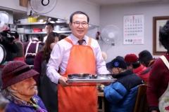 이용범 인천시의회 의장, 미추홀구 무료급식 봉사봉사