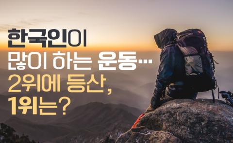 한국인이 많이 하는 운동…2위에 등산, 1위는?