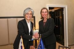 """강경화, EU·프랑스와 회담…""""한반도 평화구축 위한 협력 지속"""""""