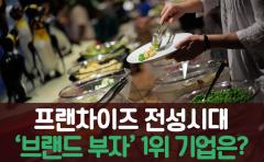 [카드뉴스]프랜차이즈 전성시대···'브랜드 부자' 1위 기업은?