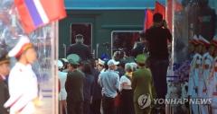중국 정부, 김정은 전용 열차 보호에 총력
