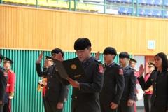 영남이공대 부사관과, 승급 및 제복 착용식 개최