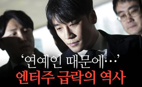 '연예인 때문에…' 엔터주 급락의 역사