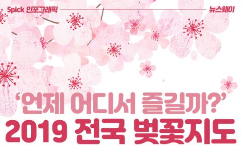 '언제 어디서 즐길까?' 2019 전국 벚꽃지도