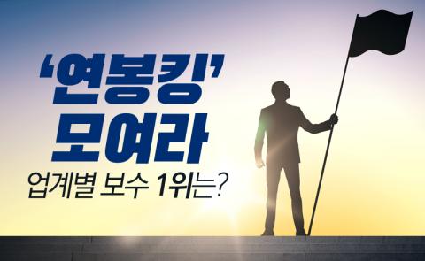 '연봉킹' 모여라…업계별 보수 1위는?