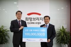 HUG, 강원 산불 복구지원금 1억원 후원