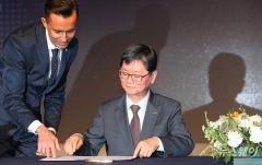 '제34차 국제철도협력기구(OSJD) 사장단회의' 사장단 서명식