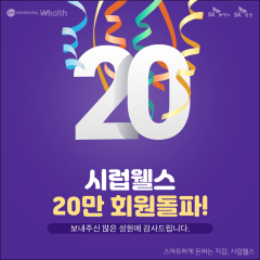 SK증권 시럽웰스, 출시 17개월만에 20만 회원돌파