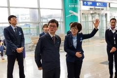 손병석 코레일 사장, 광명역 고객서비스 등 현장 점검