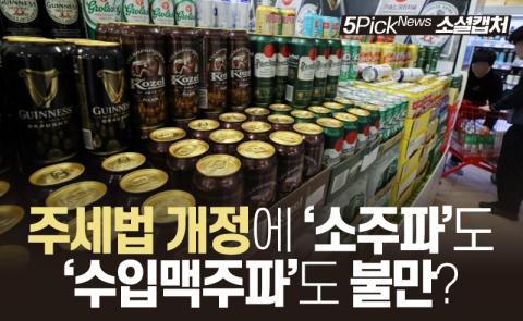 주세법 개정에 '소주파'도 '수입맥주파'도 불만?