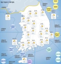 전국 곳곳 30도 넘으며 더워…중부 미세먼지 '나쁨'