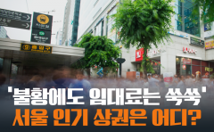[카드뉴스]'불황에도 임대료는 쑥쑥' 서울 인기 상권은 어디?