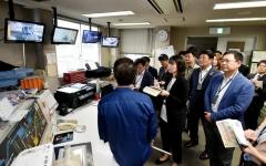 박남춘 인천시장, 日 요코하마 토츠카 재활용품 선별센터서 환경시설 시찰