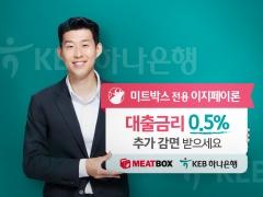 """KEB하나은행, '미트박스'와 제휴…""""음식업 자영업자 연 0.5% 금리 감면"""""""