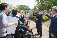 김상돈 의왕시장, 장애인 체육대회 참가 선수단 격려