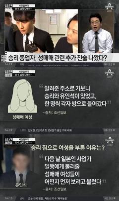 """경찰 """"승리·유인석, 승리 집에서 성매매"""""""