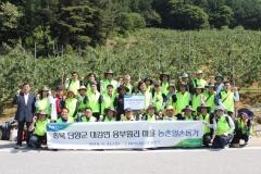 NH농협은행, 단양 용부원리 마을 찾아 일손돕기 활동