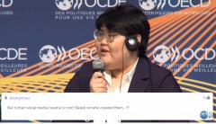 """유튜버 배리나 """"OECD서 직접 초청…정부 개입 유언비어 삼가해달라"""""""