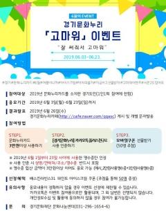 경기문화재단, 도민 위한 '문화누리카드 이벤트' 진행